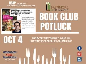 Baltimore Gift Economy bookclub Potluck 2015