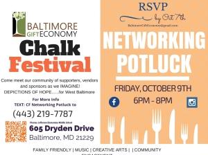 Baltimore Gift Economy Chalk-Fest Networking Potluck 2015